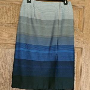 Navy Stripe Pencil Skirt